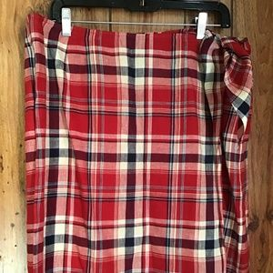 Lauren Ralph Lauren Wrap Skirt Size 16 Plaid Linen